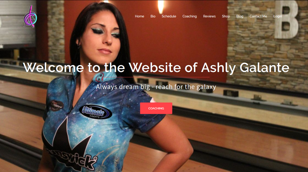 Ashly Galnte Website - Webtex Web Design