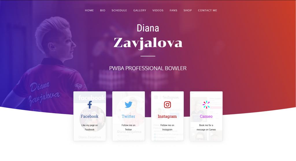 Diana Zavjalova - New Website